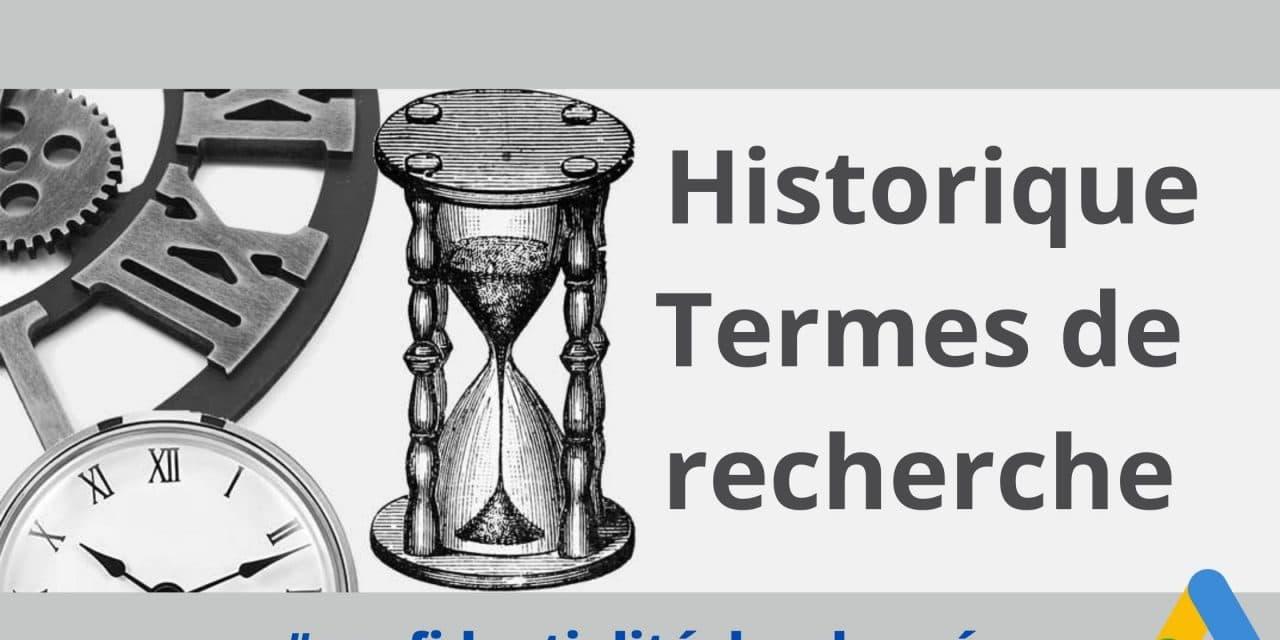 Historique termes de recherche : Google ads va perdre une partie de sa mémoire